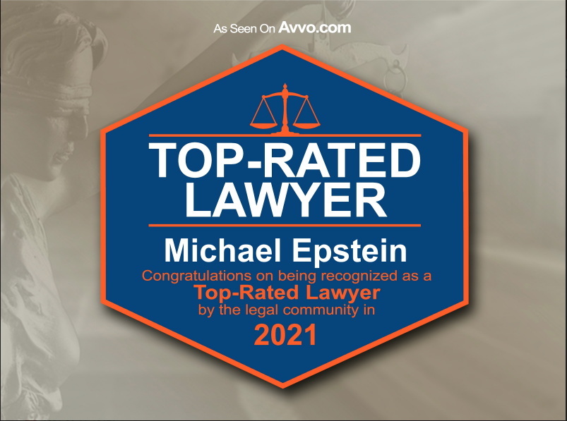 Michael Epstein Top Rated Lawyer Badge